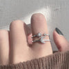 Trending Popular Star & Moon Crystal Band Ring Fashion Jewelry for Women - www.Jewolite.com #rings