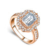 Madison Ultra Shine Cubic Zirconia Crystal Cushion Cut Halo Fashion Ring in Silver