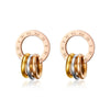 Kaid Diamond Shape Gold Large Hoop Earrings
