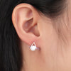 Cute Crystal Triangle Stud Earrings in Rose Gold (www.Jewolite.com) #earrings
