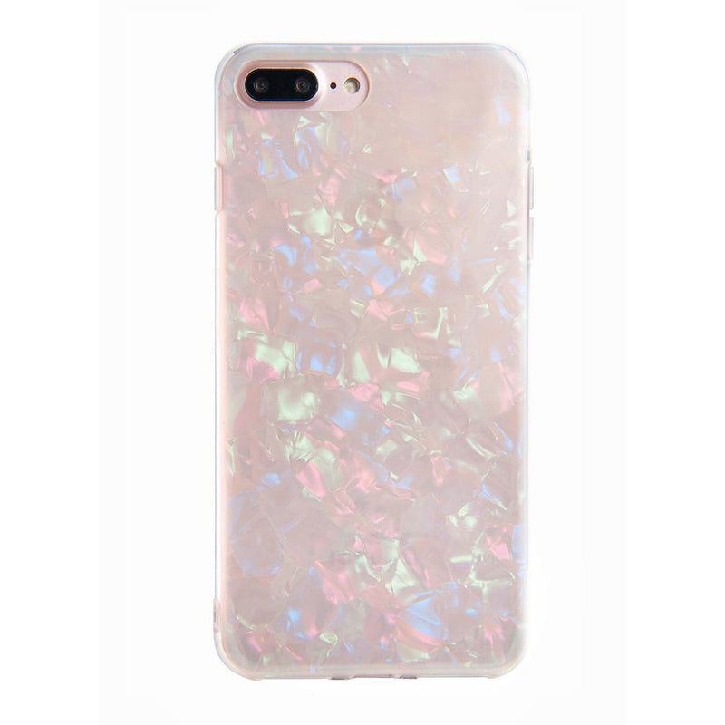 Cute Holographic Opal Shell IPhone Cases for Teens Unique Aesthetic Protective Silicone Phone Case in Pink, White, Blue, Black - caja del teléfono lindo - www.Jewolite.com
