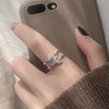 Trending Popular Star & Moon Crystal Band Ring Fashion Jewelry for Women - www.Jewolite.com #rings  Edit alt text