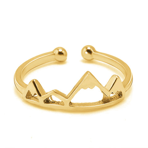 Mia Cute Dainty Minimalist Simple Heart Initial Letter Ring