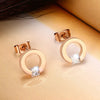 Cute Ear Piercing Ideas for Teens Crystal Round Circle Hoop Ear Lobe Earrings in Rose Gold for Women pendientes de círculo de cristal en oro rosa para adolescentes (www.Jewolite.com) #earrings