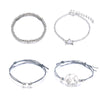 River Cute Boho Moon Chain & Bangle Bracelet Set 4 Pieces