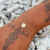 Cute Minimalist Circle Initial Alphabet Chain Gold Bracelet Fashion Jewelry - www.Jewolite.com