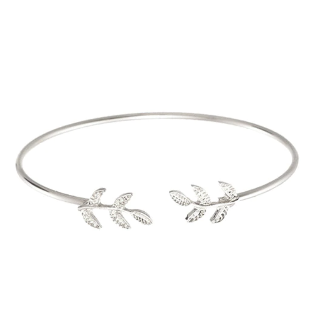 Meadow Boho Leaf Bangle Bracelet
