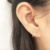 Women's Simple Minimalist Ear Piercing Ideas for Cartilage Helix Conch Lobe -  Minimal Small Hoop Huggie Earrings for Teens in Silver or Gold - ideas minimalistas de perforación de la oreja para las mujeres - (www.Jewolite.com) #earrings