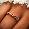 Cute Statement Leaf Ring Band for Graduation, Promise, Wedding, Engagement in Rose Gold or Silver Fashion Jewelry for Women - www.Jewolite.com