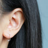 Women's Simple Minimalist Wired Ear Piercing Ideas for Cartilage Helix Conch Lobe -  Minimal Small Hoop Huggie Earrings for Teens in Silver or Gold - ideas minimalistas de perforación de la oreja para las mujeres - (www.Jewolite.com) #earrings