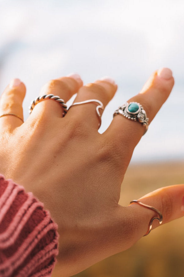 Cute Minimalist Surf Wave Ring Dainty Fashion Jewelry for Women - www.Jewolite.com