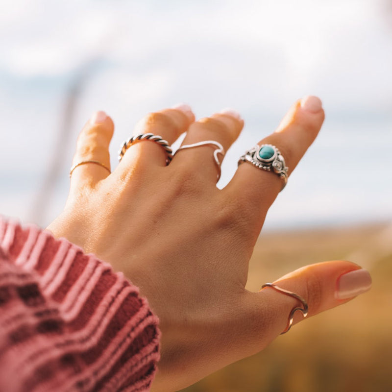 Cute Minimalist Surf Wave Ring Dainty Fashion Jewelry for Women - www.Jewolite.com  Edit alt text