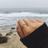 Cute Simple Surf Wave Dainty Ring Fashion Jewelry for Teens Boho Women's Stackable Silver Rose Gold Ring (www.Jewolite.com) #rings