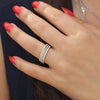 cute simple crystal thin stackable ring in silver or gold - lindos anillos simples - www.Jewolite.com #ring