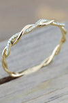 Cute Minimalist Dainty Twist Ring Gold for Teen Girls for Women - www.Jewolite.com #rings