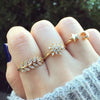 Cute Moon and Star Adjustable Gold Rings for Women Fashion Jewelry - www.MyBodiArt.com