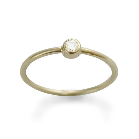 Daphne Dainty Crystal Rose Gold Twist Ring