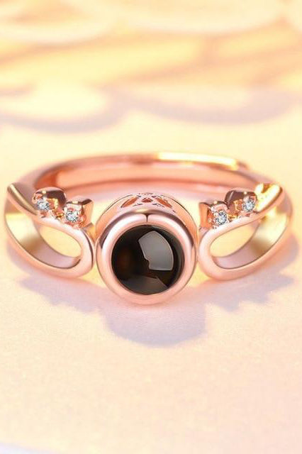 Rose Gold Beautiful Pearl Crystal Crown Princess Ring for Women for Teen Girls for Graduation Wedding Christmas Present -  anillo de corona - www.Jewolite.com #rings