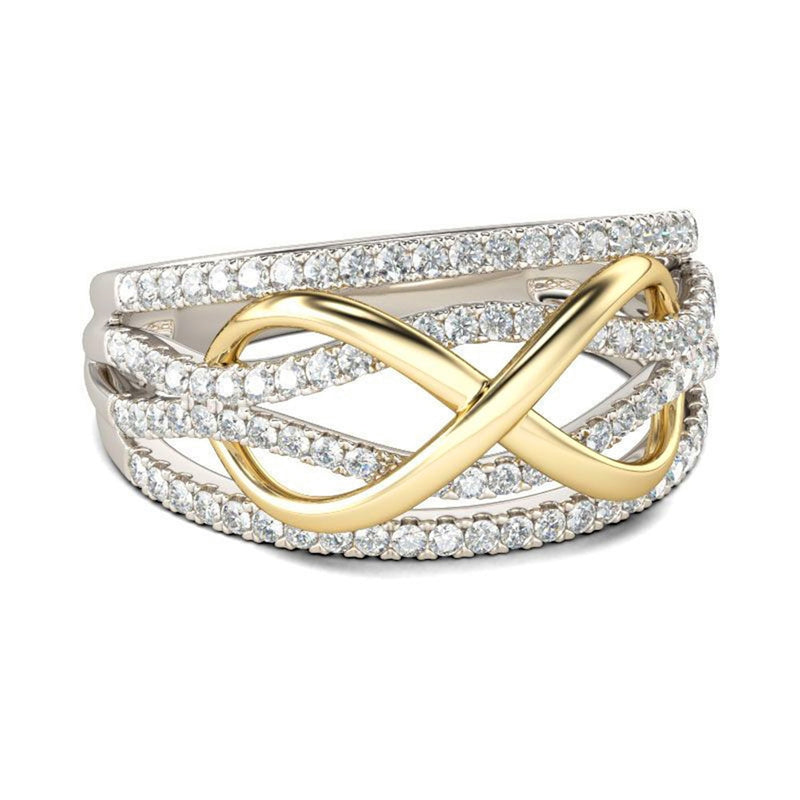 Forever Beautiful Unique Infinity Crystal Promise Fashion Ring