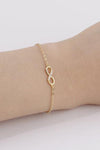 Cute Minimalist Infinity Charm Bracelet Fashion Jewelry for Women for Teen Girls in Gold or Silver -  pulsera infinita - www.Jewolite.com #bracelets