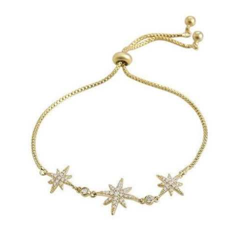 Clarissa Cute Rose Adjustable Slider Chain Bracelet