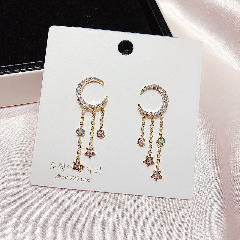 Pretty Crystal Dangle Chain Earring Studs Fashion Jewelry for Women - www.Jewolite.com