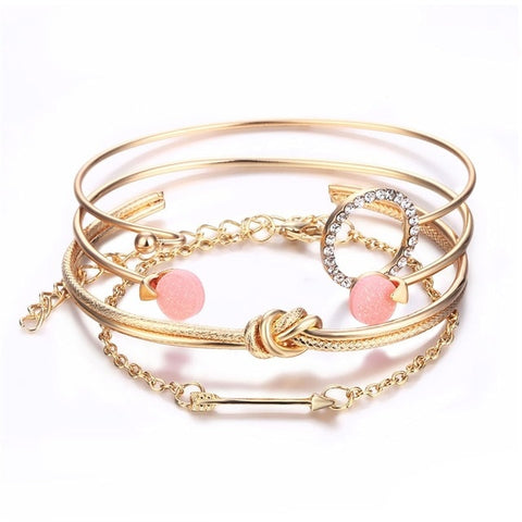 Caroline Cute Crystal Heart Rose Gold Fashion Ring