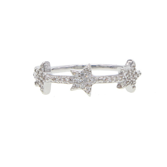 Novah Cute Unique Crystal Star Band Ring