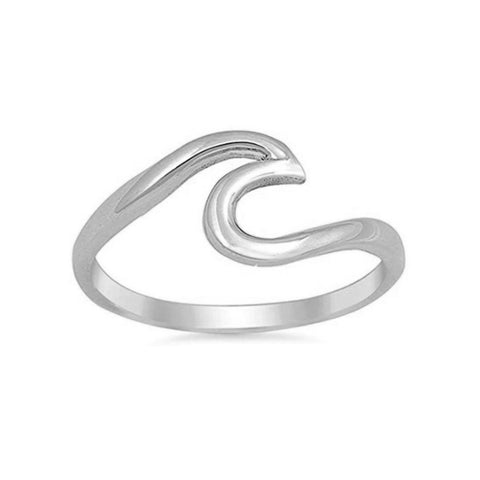 Eve Simple Minimalist Knot Infinity Metal Ring