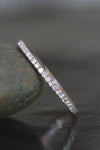 Audrina Simple Crystal Pave Stackable Thin Ring