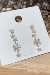 Earring Crystal Flower Pretty Long Dangle Studs - www.Jewolite.com #earrings  Edit alt text