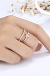 Cute rose gold cross ring trending feminine fashion jewelry - www.jewolite.com #rings Edit alt text