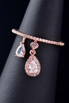 Cute Teadrop Crystal Pave Dainty Ring Fashion Jewelry for Women for Teen Girls - www.Jewolite.com