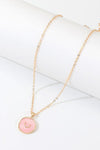 Summer Night Enamel Star Heart Moon Lightning Gold Coin Pendant Chain Necklace