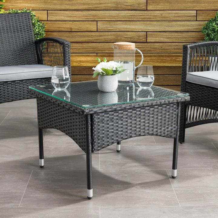 Outdoor patio dining and coffee tables