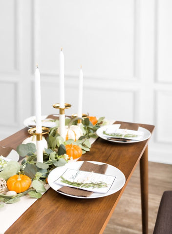 Dining table with fall décor