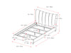 Fabric Vertical Channel-Tufted King Bed Frame