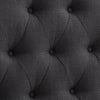 Diamond Button Tufted Fabric Arched Panel Headboard, Single/Twin