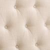 Calera Diamond Button Tufted Fabric Arched Panel Headboard, Queen