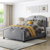 "Fairfield Fabric Curved Top Bed, King - <body><p style=""color:#ED1C24"";>*CLEARANCE - Final Sale*</p></body>"