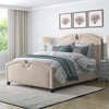 Fabric Curved Top Bed, Queen - *CLEARANCE*