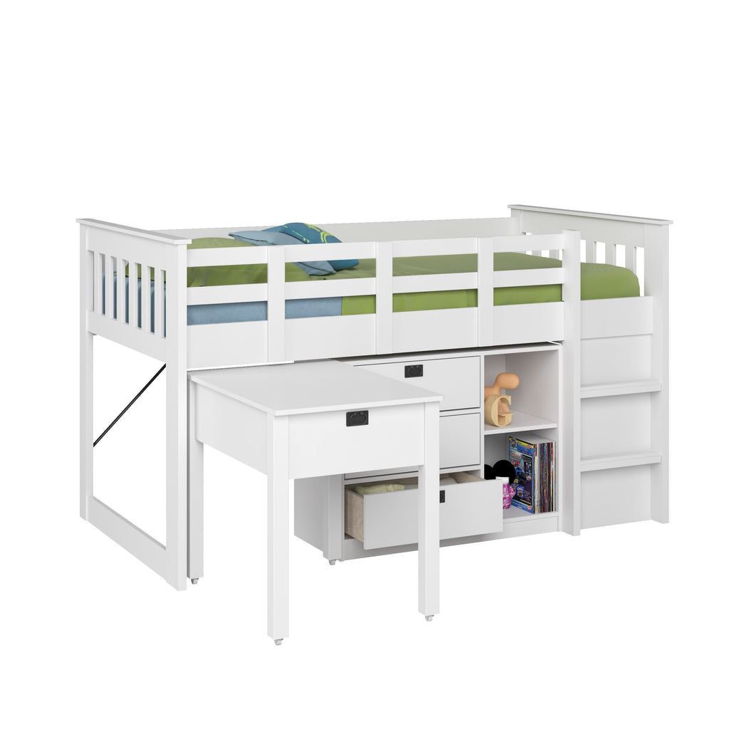 4pc All-in-One Single Loft Bed