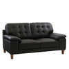 Burnaby Genuine Leather Loveseat with Sewn Tufted Backrest and Wide Arms *CLEARANCE - Final Sale*