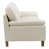 Burnaby Genuine Leather Sofa with Sewn Tufted Backrest and Wide Arms *CLEARANCE - Final Sale*