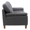 Ultra Soft Fabric Sofa with Sewn Tufted Backrest and Wide Arms, Medium Grey