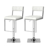 Adjustable Counter Height Square Tufted Bar Stool, Set of 2