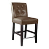 Antonio Counter Height Bar Stool in Faux Leather