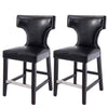 Antonio PU Leather Counter Height Bar Stool with Metal Studs, Set of 2 *CLEARANCE - Final Sale*