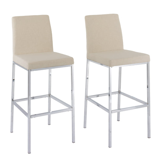 Fabric Bar Stools with Chrome Legs, Bar Height, Set of 2 - *CLEARANCE*