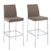 "Huntington Fabric Bar Stools with Chrome Legs, Bar Height, Set of 2 - <body><p style=""color:#ED1C24"";>*CLEARANCE - Final Sale*</p></body>"